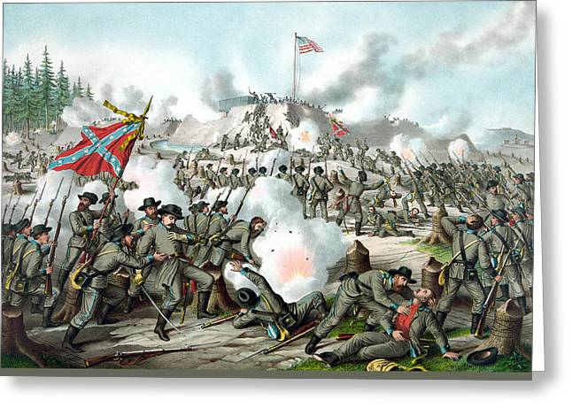Confederate Greeting Cards - The Battle of Fort Sanders Greeting Card by War Is Hell Store