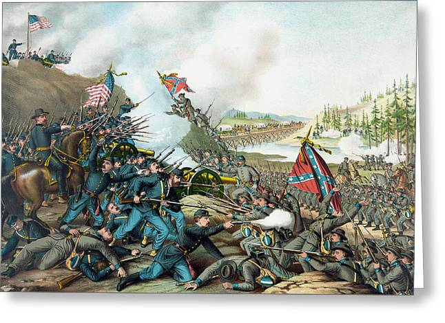 Battle Of Franklin Greeting Cards - The Battle of Franklin - Civil War Greeting Card by War Is Hell Store