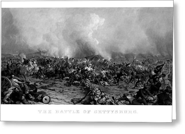 American Civil War Drawings Greeting Cards - The Battle of Gettysburg Greeting Card by War Is Hell Store