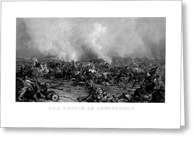 Gettysburg Greeting Cards - The Battle of Gettysburg Greeting Card by War Is Hell Store