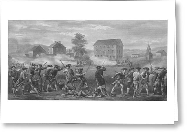 Lexington And Concord Greeting Cards - The Battle of Lexington Greeting Card by War Is Hell Store
