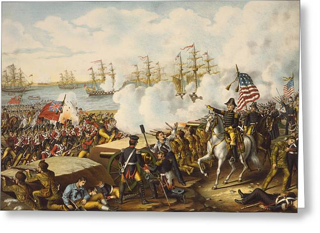 Battle Of New Orleans Greeting Cards - The Battle Of New Orleans, January 8 Greeting Card by Ken Welsh