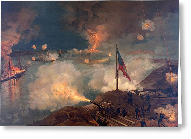 The Battle Of Port Hudson, 1863  Greeting Card by American School