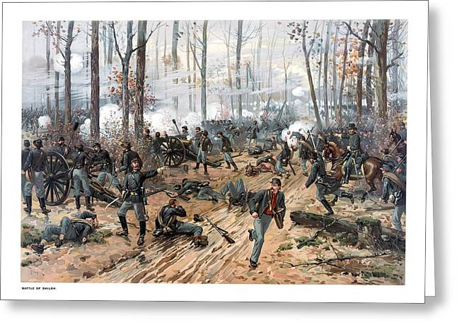 Troop Greeting Cards - The Battle of Shiloh Greeting Card by War Is Hell Store
