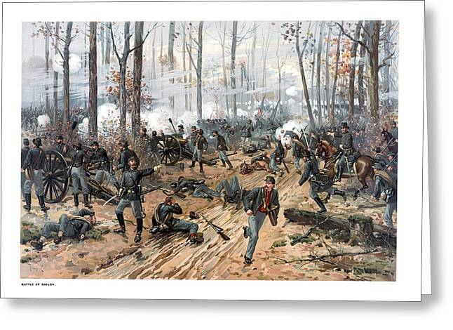 Troops Greeting Cards - The Battle of Shiloh Greeting Card by War Is Hell Store