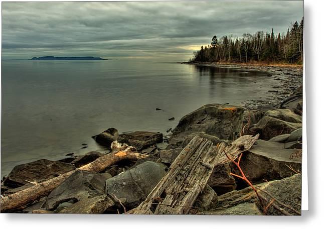 Voyageurs Greeting Cards - The Bay of Thunder Greeting Card by Jakub Sisak