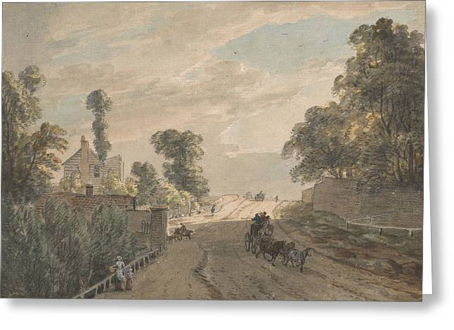 The Bayswater Turnpike Greeting Card by Paul Sandby