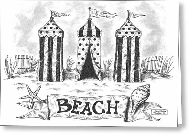 Pen And Paper Greeting Cards - The Beach Greeting Card by Adam Zebediah Joseph