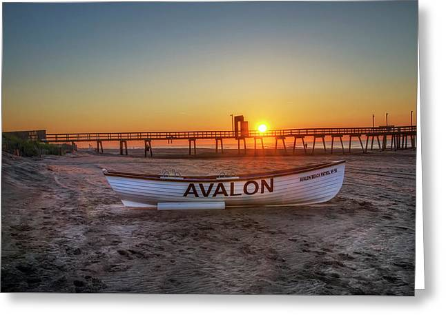 The Beach At Avalon 32nd Street Greeting Card by Bill Cannon