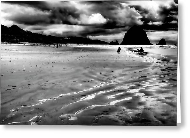 Lanscape Greeting Cards - The Beach at Dusk Greeting Card by David Patterson