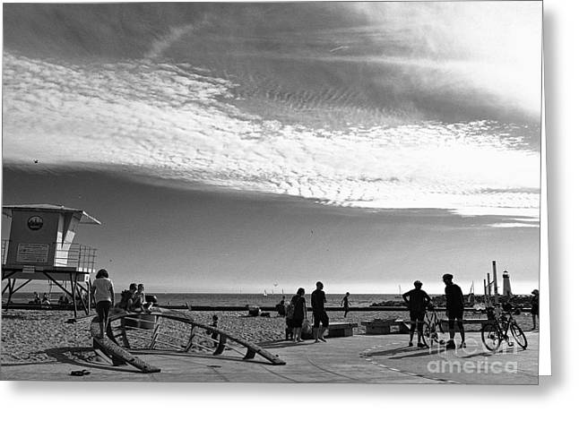 Santa Cruz Greeting Cards - The Beach At Santa Cruz  Greeting Card by Chris Berry