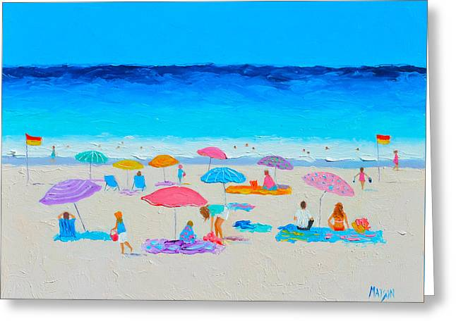 Beach Cottage Style Greeting Cards - The Beach Holiday Greeting Card by Jan Matson