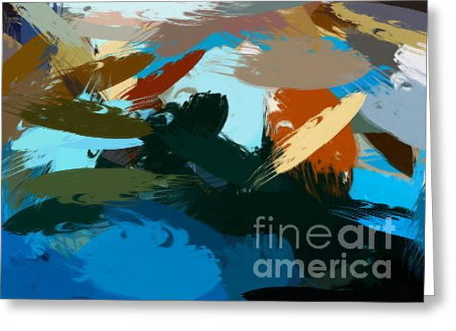Abstract Style Greeting Cards - The Beach Greeting Card by Jamie Johnson