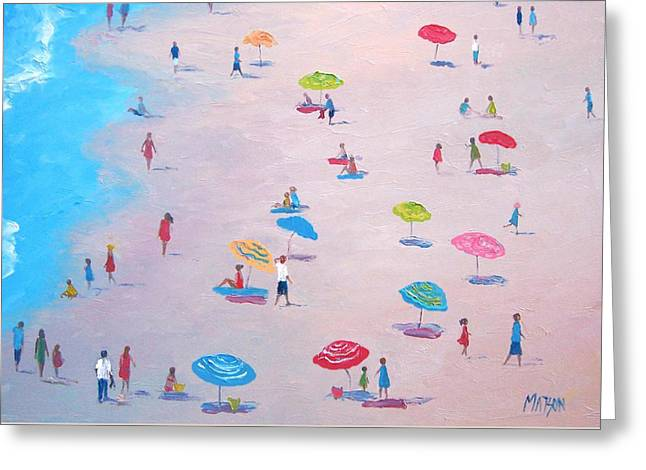 Surf Life Greeting Cards - The Beach Greeting Card by Jan Matson