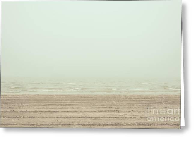 Foggy Beach Greeting Cards - The Beach Greeting Card by Pascal Deckarm