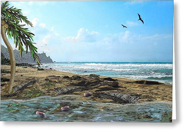 The Beach Greeting Card by Tony Rodriguez
