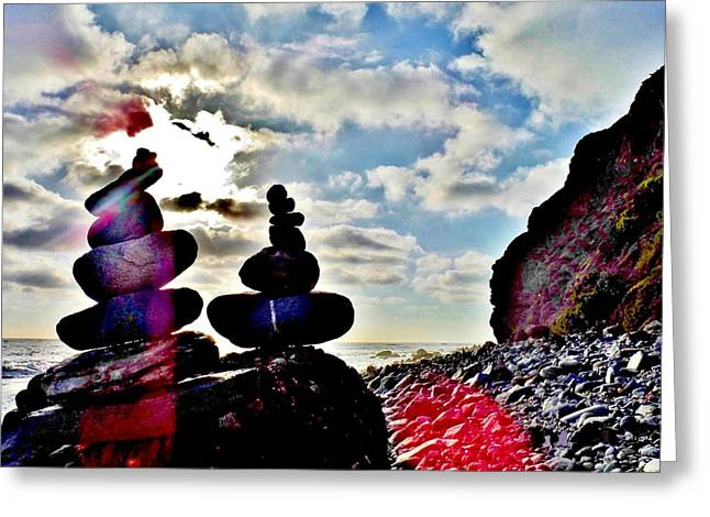 Seashell Picture Photographs Greeting Cards - The Beacon And The Sky Greeting Card by Rick Keene