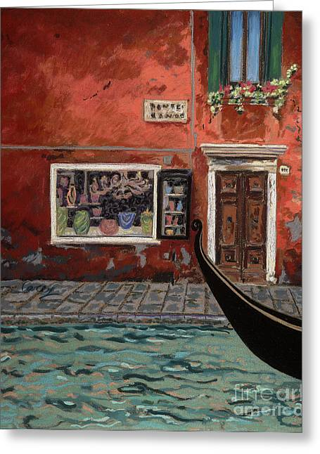 Venice Greeting Cards - The Bead Shop Greeting Card by Cathy Carey