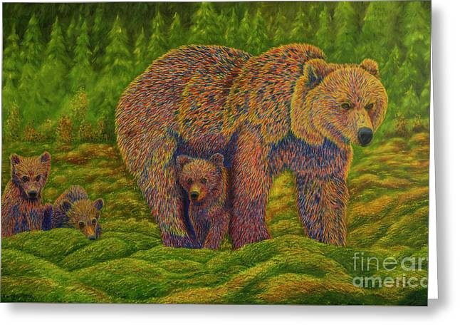 The Bear Family Greeting Card by Veikko Suikkanen