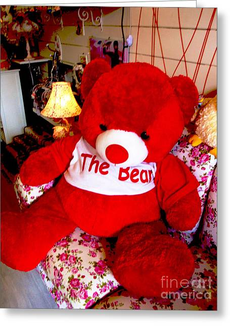 Toy Shop Greeting Cards - The Bear  Greeting Card by Kim Magee and Crystal Mclean  Aunt and Niece Photography