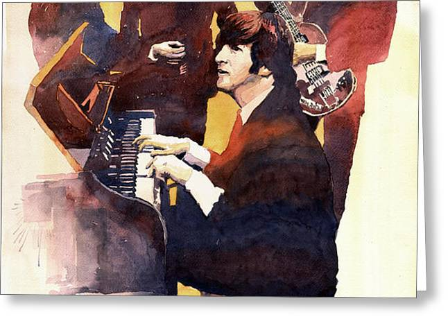 The Beatles 01 Greeting Card by Yuriy  Shevchuk