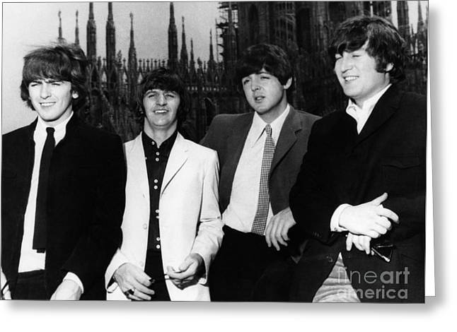 Drummers Photographs Greeting Cards - THE BEATLES, 1960s Greeting Card by Granger