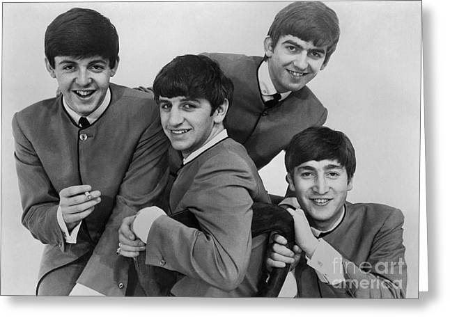 Drummers Photographs Greeting Cards - The Beatles, 1963 Greeting Card by Granger
