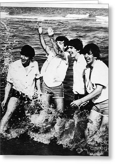 Drummers Photographs Greeting Cards - The Beatles, 1964 Greeting Card by Granger