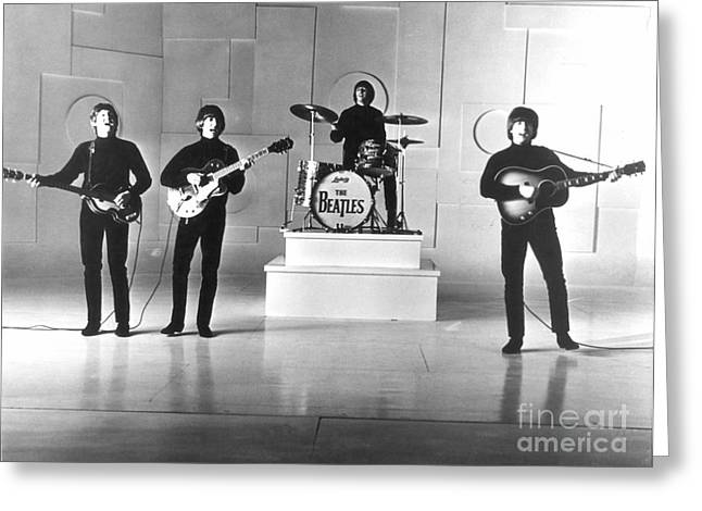 Drummers Photographs Greeting Cards - The Beatles, 1965 Greeting Card by Granger