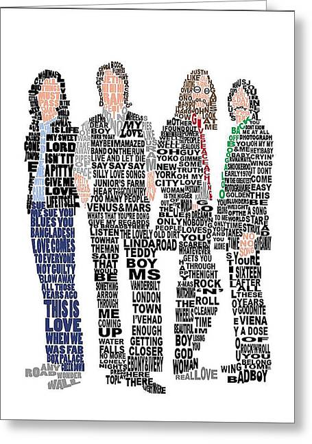The Beatles  Greeting Card by Gradea Lappin