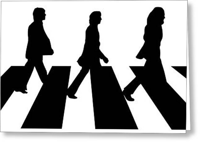 Best Sellers -  - Famous Artist Greeting Cards - The Beatles No.02 Greeting Card by Caio Caldas