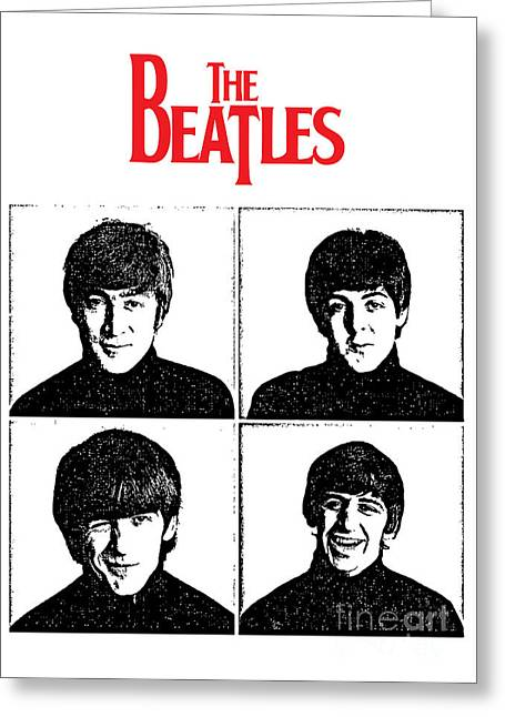 Rock N Roll Greeting Cards - The Beatles No.12 Greeting Card by Caio Caldas
