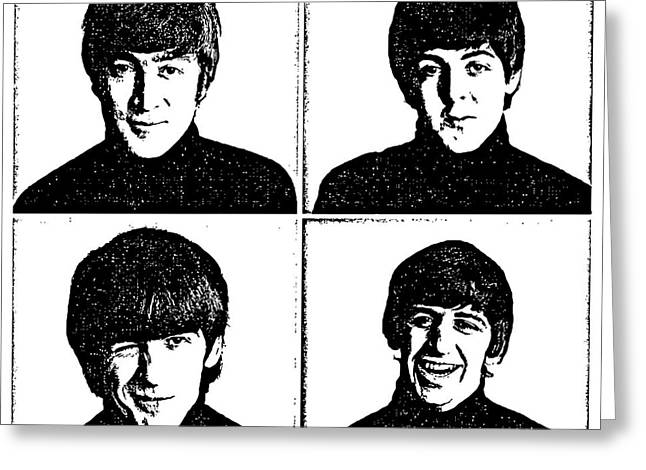 Rock N Roll Greeting Cards - The Beatles No.13 Greeting Card by Caio Caldas
