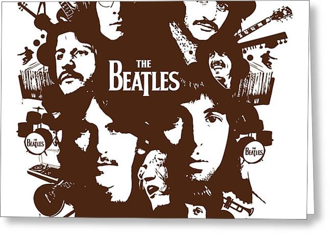 The Beatles No.15 Greeting Card by Caio Caldas