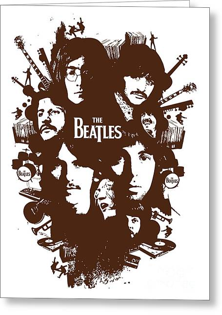 Rock N Roll Greeting Cards - The Beatles No.15 Greeting Card by Caio Caldas