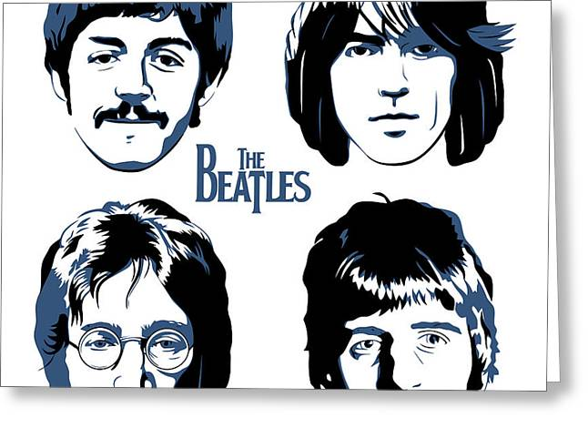 Rock N Roll Greeting Cards - The Beatles No.18 Greeting Card by Caio Caldas