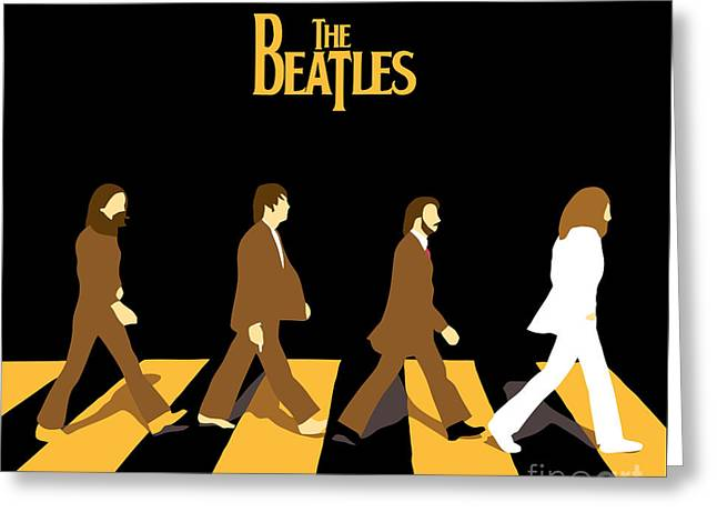 Rock Guitar Player Greeting Cards - The Beatles No.19 Greeting Card by Caio Caldas