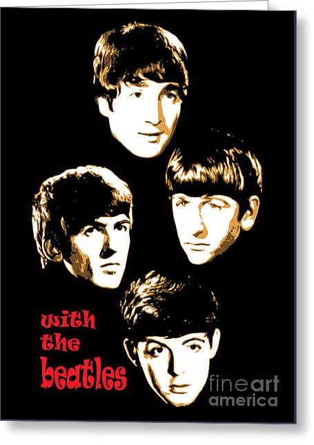 Rock N Roll Greeting Cards - The Beatles No.20 Greeting Card by Caio Caldas