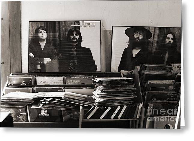 The Beatles Yesterday Greeting Card by Anna Payne