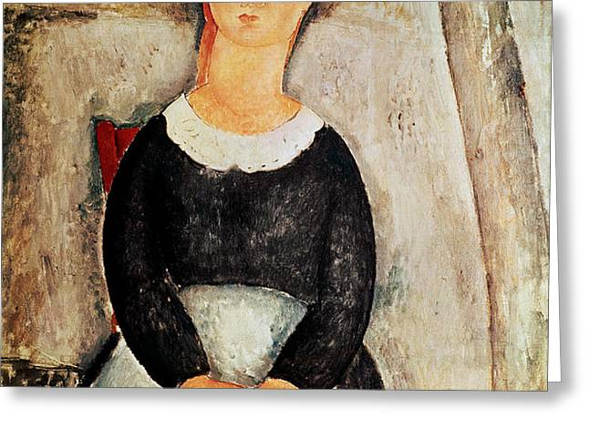 The Beautiful Grocer Greeting Card by Amedeo Modigliani