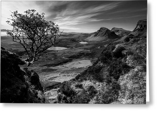 Beautiful Scenery Greeting Cards - The Beautiful Quairaing Landscape of Scotland Greeting Card by Tobias