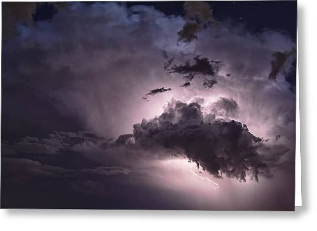 Arizona Lightning Greeting Cards - The Beautiful Side of a Storm  Greeting Card by Saija  Lehtonen