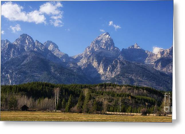 The Beautiful Teton Range Greeting Card by Priscilla Burgers