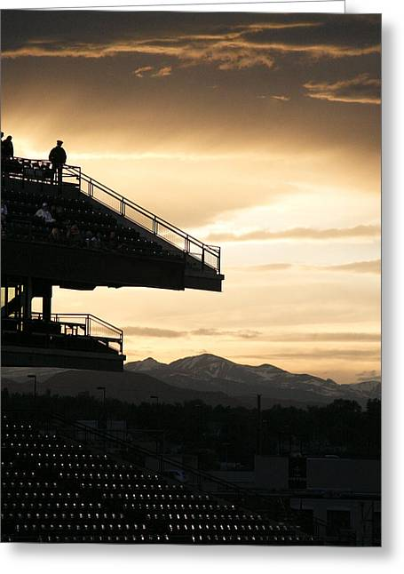 The Beauty Of Baseball In Colorado Greeting Card by Marilyn Hunt