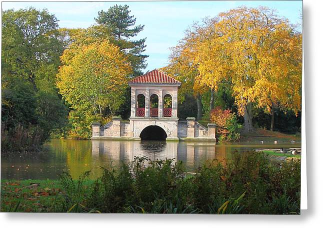 Swiss Photographs Greeting Cards - The  beauty of Birkenhead Park.U.K Greeting Card by Rob Lester Wirral