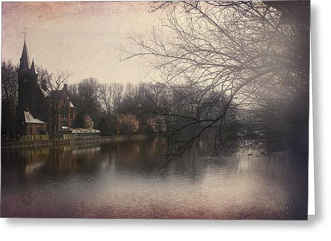 Spire Framed Prints Greeting Cards - The Beauty of Brugge Greeting Card by Carol Japp