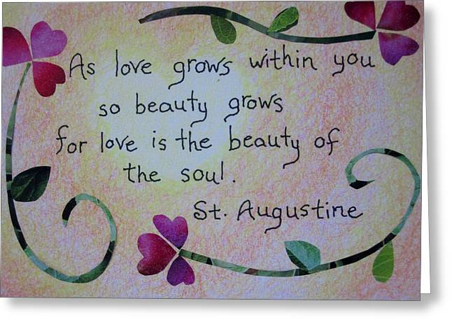 Souls Greeting Cards - The Beauty of Love Greeting Card by Margie Leeper