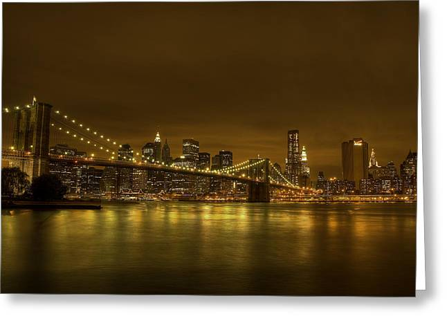 The Beauty of Manhattan Greeting Card by Andreas Freund