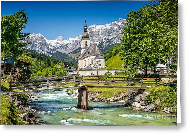 St Sebastian Greeting Cards - The Beauty of the Alps Greeting Card by JR Photography