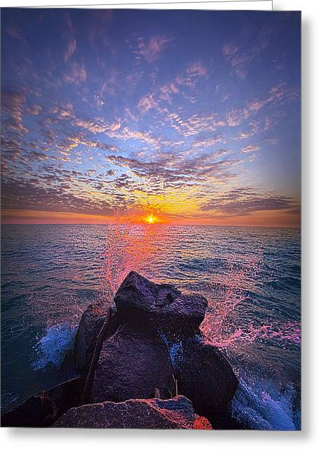 The Beauty Of The Moments In Between Greeting Card by Phil Koch